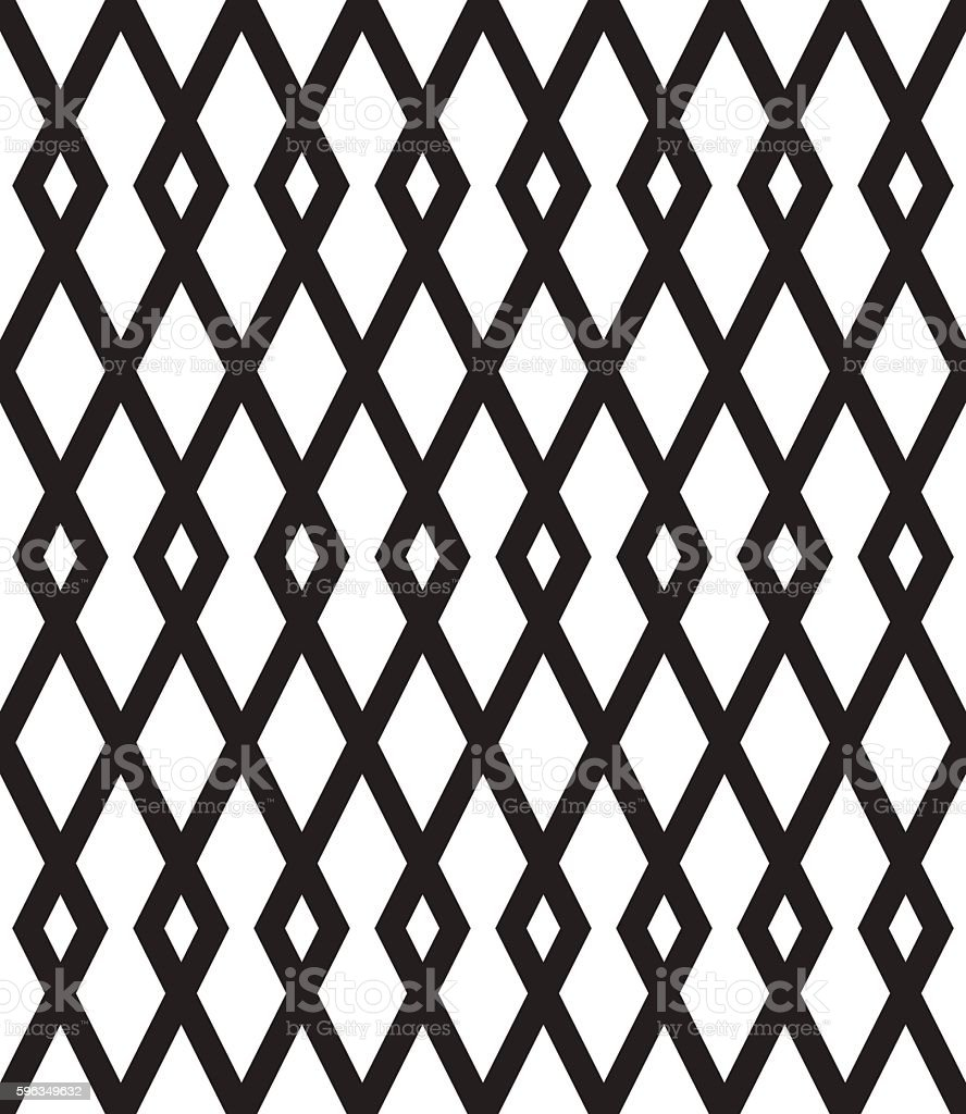 Seamless pattern with black rhombuses on white background. royalty-free seamless pattern with black rhombuses on white background stock vector art & more images of abstract