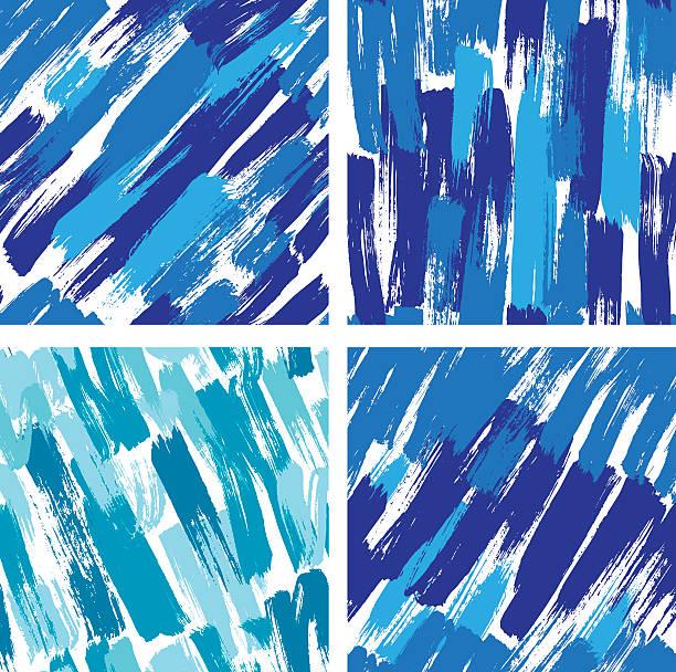 ilustrações de stock, clip art, desenhos animados e ícones de sem costura padrão com blots e salpicos de cor de tinta azul. - lian empty
