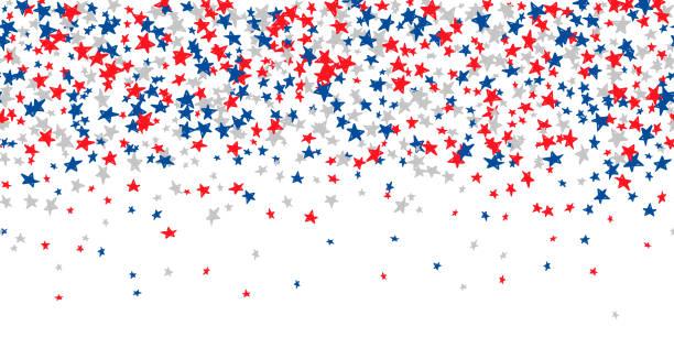 illustrazioni stock, clip art, cartoni animati e icone di tendenza di seamless pattern with blue, red, white stars - culture