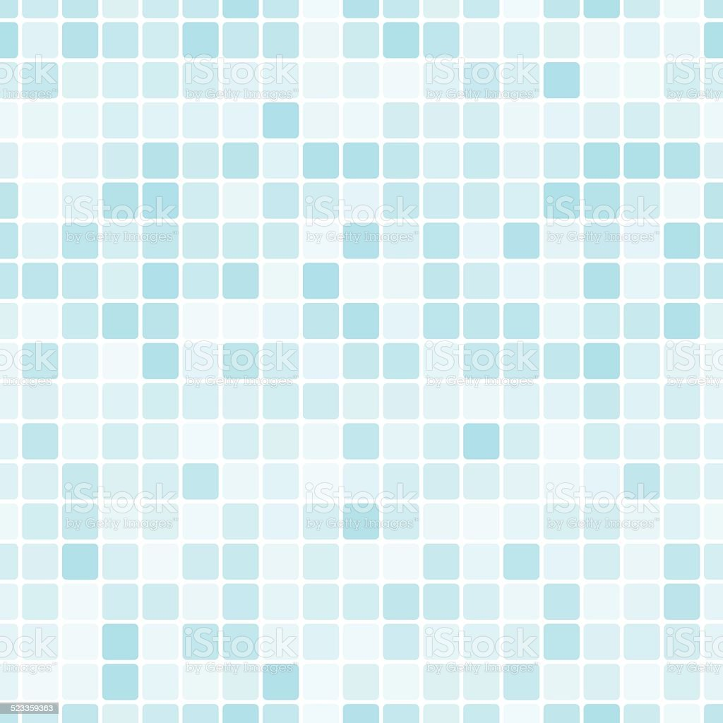Seamless pattern with blue tiles vector art illustration