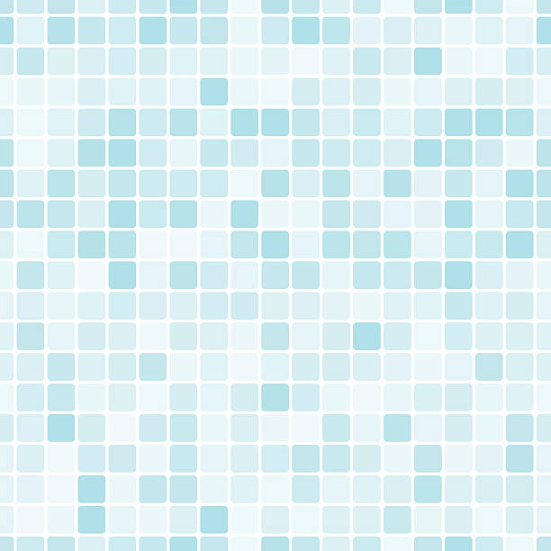 Seamless pattern with blue tiles Vector seamless pattern with blue tiles. bathroom backgrounds stock illustrations