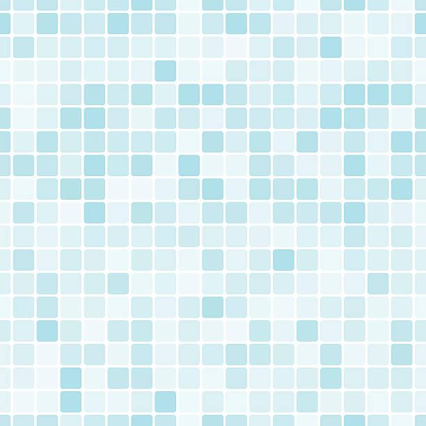 nahtlose muster mit blauen fliesen - badezimmer stock-grafiken, -clipart, -cartoons und -symbole