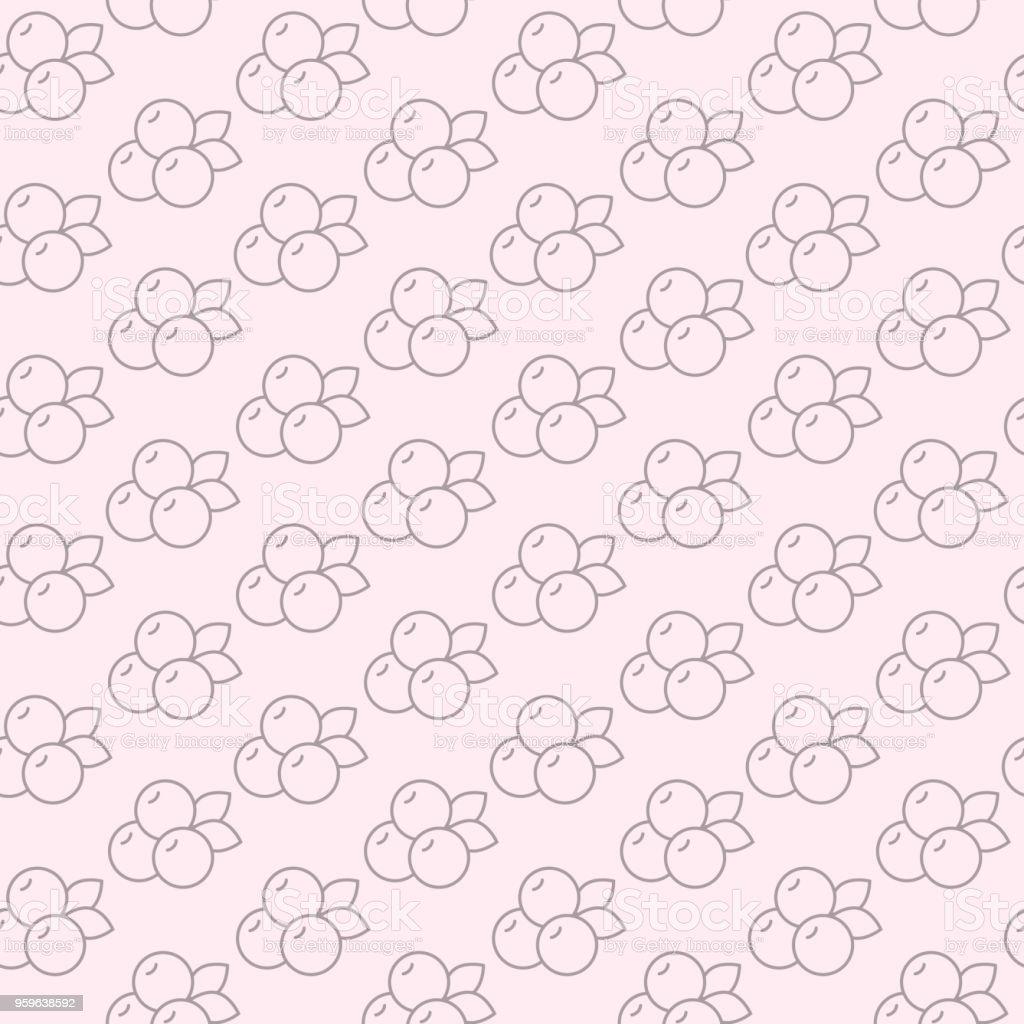 Patrón sin fisuras con arándano en estilo de línea. Ilustración de vector. - arte vectorial de Abstracto libre de derechos