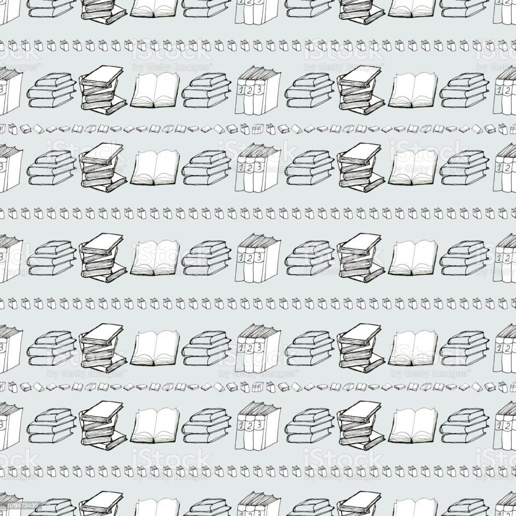 Seamless pattern with books 免版稅 seamless pattern with books 向量插圖及更多 偵探 - 人的角色 圖片