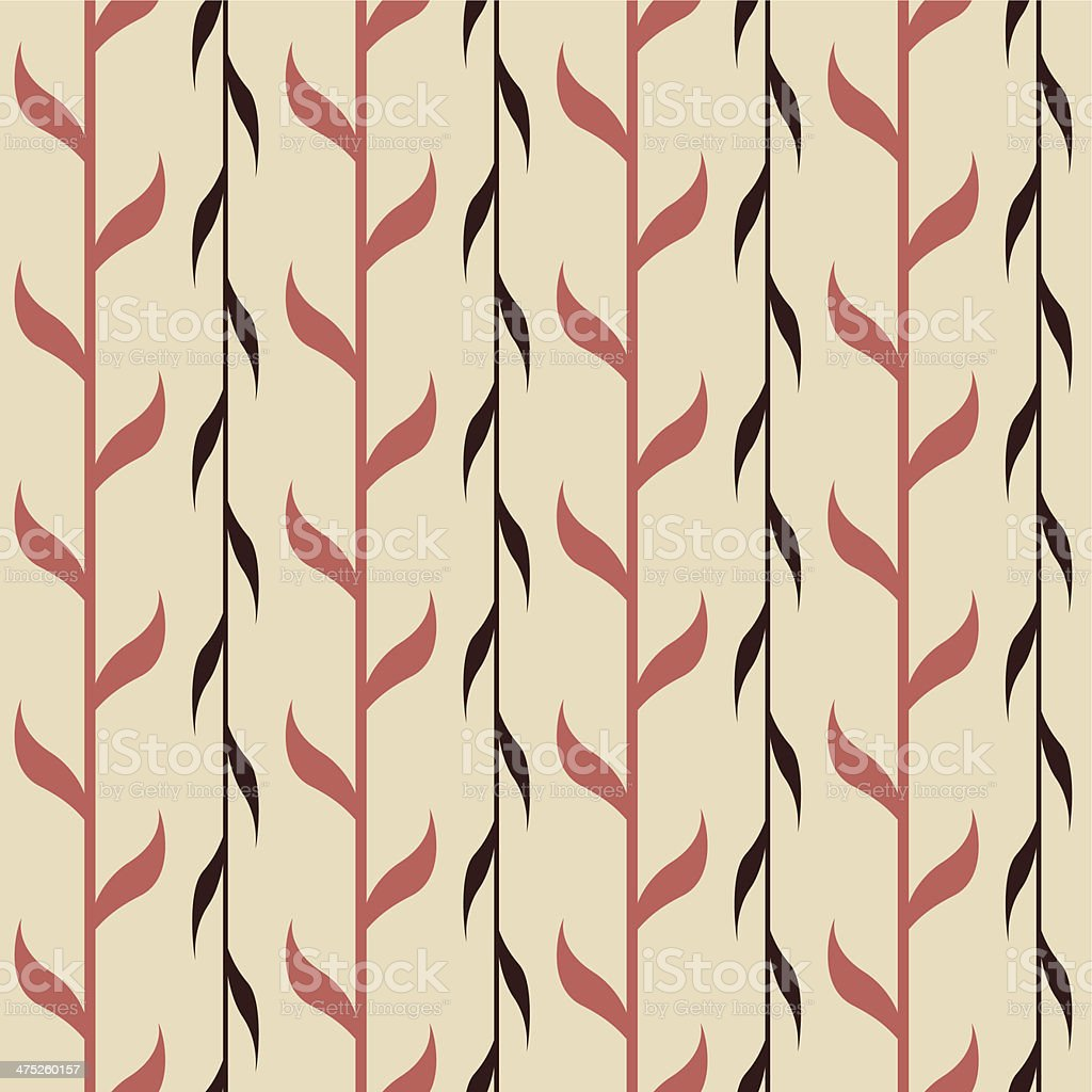 Seamless pattern with branches royalty-free stock vector art