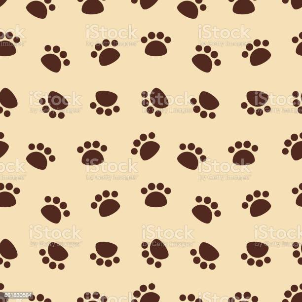 Seamless pattern with brown animal footprints vector id861830564?b=1&k=6&m=861830564&s=612x612&h=9b0bosnfw9wez0m crgk6lcf1nghkr6kymxhethbumy=