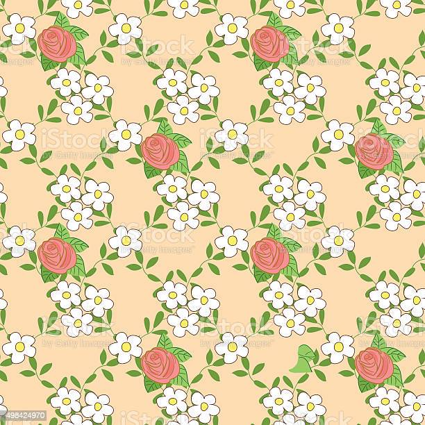 Seamless pattern with cartoon daisies and roses vector id498424970?b=1&k=6&m=498424970&s=612x612&h=h 6p rjvu51q58w jwdhricxyo48ylurkaipdkiihty=