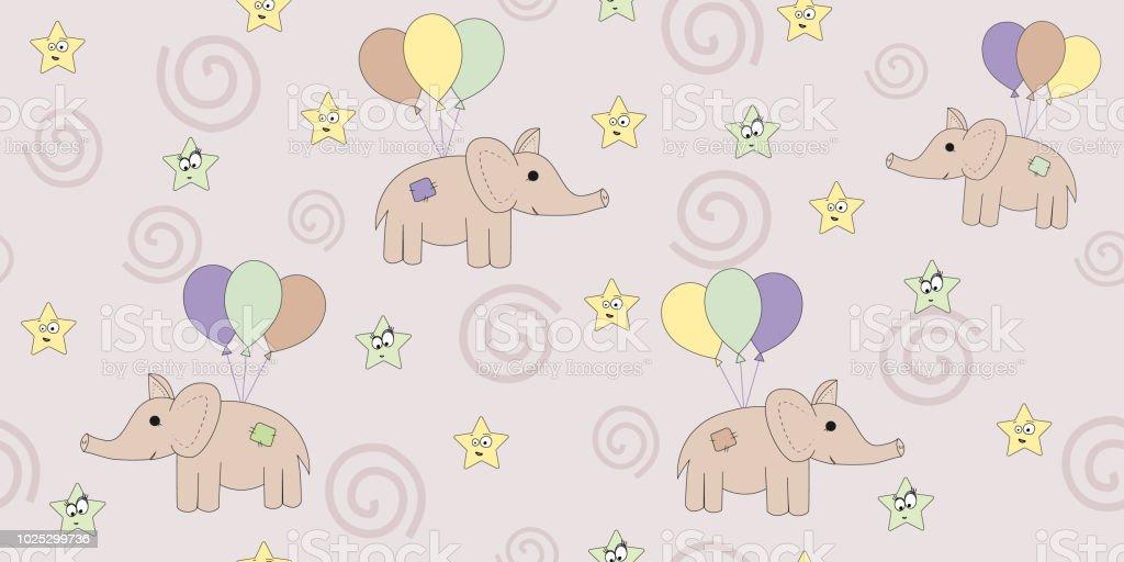 Modèle Sans Couture Avec Les éléphants De Dessin Animé De