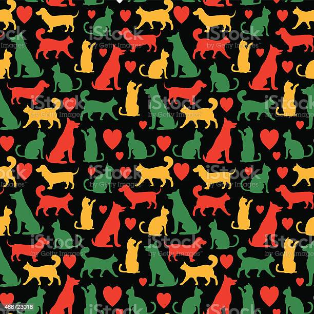 Seamless pattern with cats and dogs vector id466723018?b=1&k=6&m=466723018&s=612x612&h=8sxvrytgp3zb1bfb5vd okwzkfjsvw1pemjmxorhyhw=