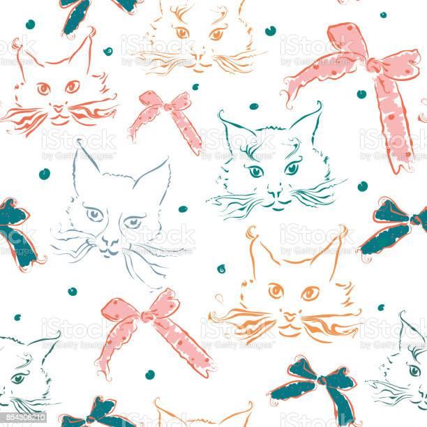 Seamless pattern with cats and ribbon bows on white background vector id854308210?b=1&k=6&m=854308210&s=612x612&h=jfdbkmpqnqkhajj9m6bz ywh4z8gzw2yhxfwwxtkga8=