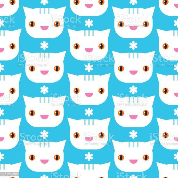 Seamless pattern with cats vector cute illustration vector id671236922?b=1&k=6&m=671236922&s=612x612&h=rsimwlpiji0chhdzpzgli0am7xhyw7860l6iwhibsom=