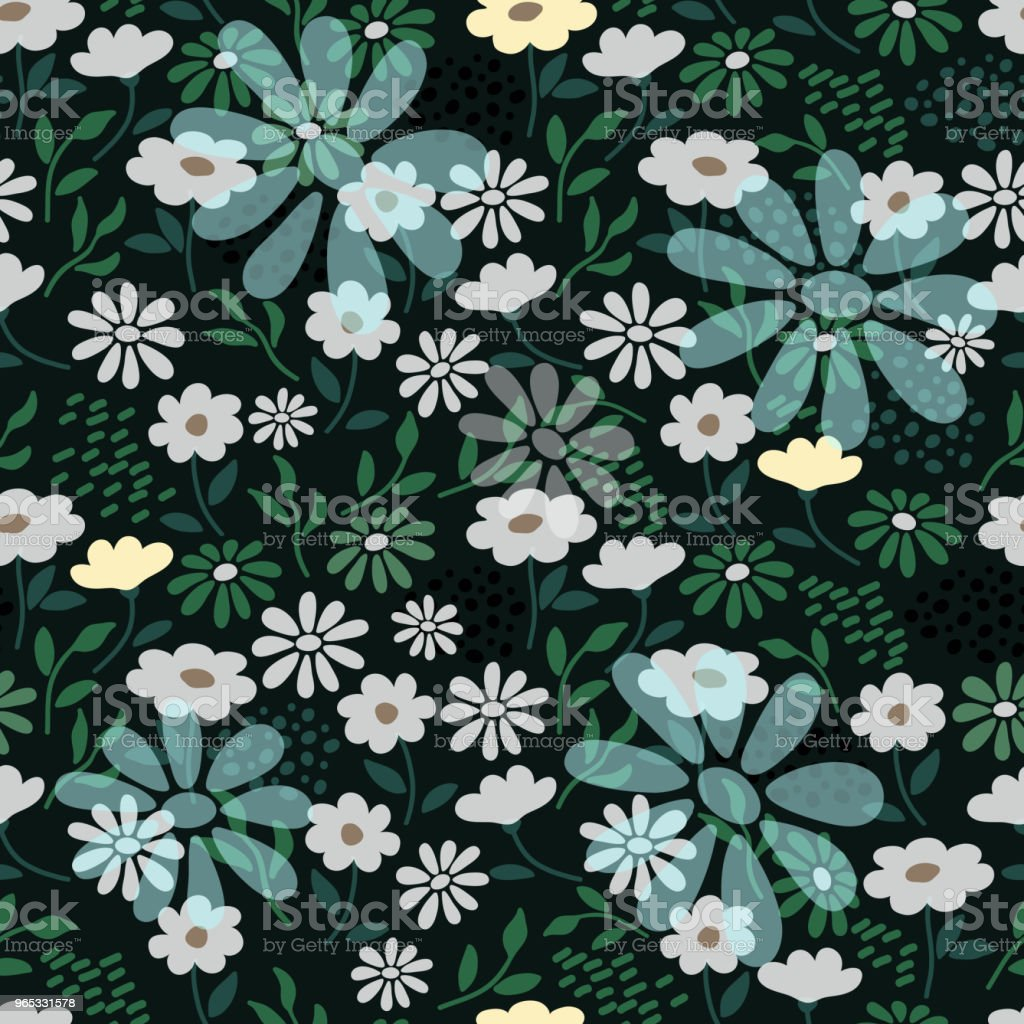 seamless pattern with chamomile seamless pattern with chamomile - stockowe grafiki wektorowe i więcej obrazów abstrakcja royalty-free