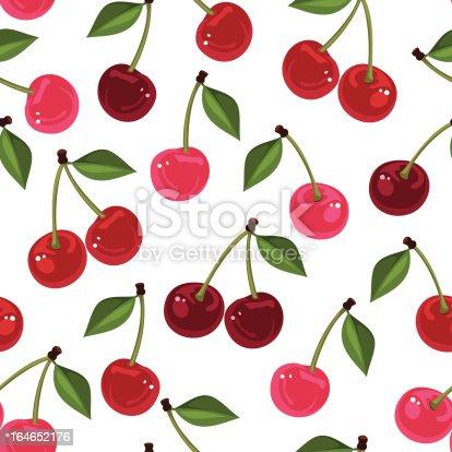 istock Seamless pattern with cherry. Vector illustration. 164652176