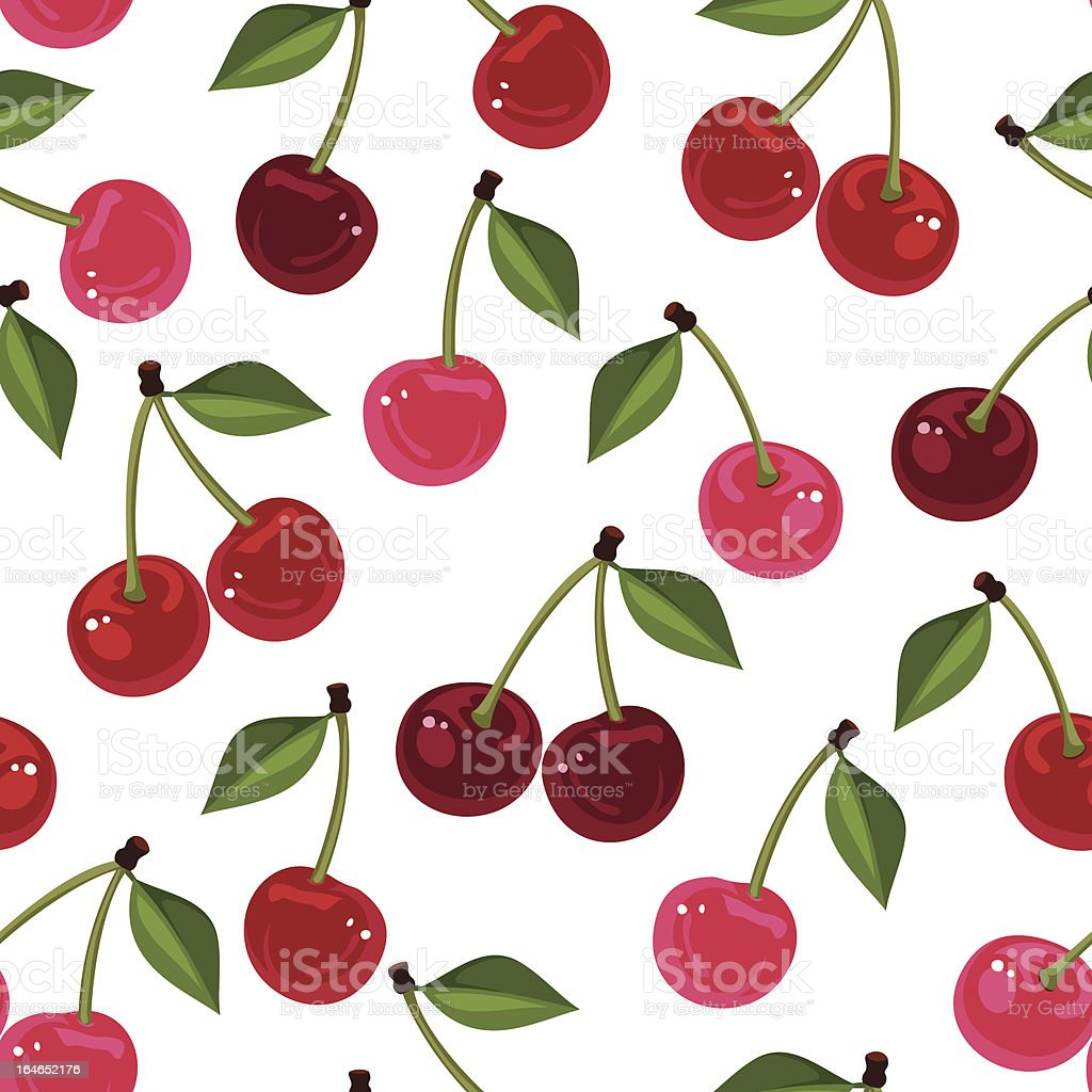 Seamless pattern with cherry. Vector illustration. vector art illustration