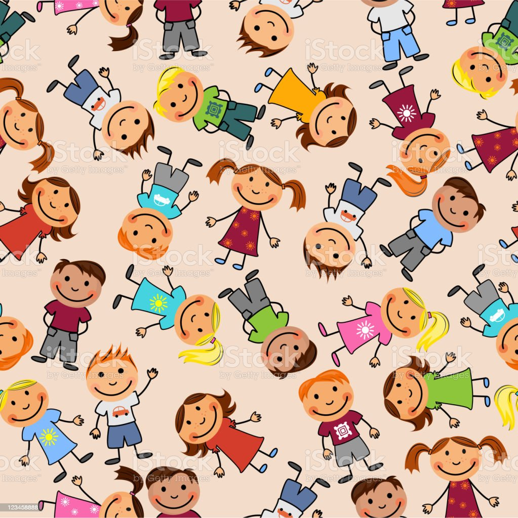 Seamless pattern with childrens royalty-free stock vector art