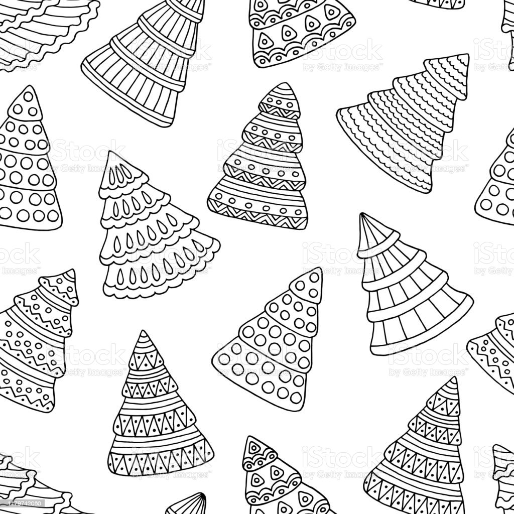 Free Christmas Tree Coloring Pages for the Kids   1024x1024