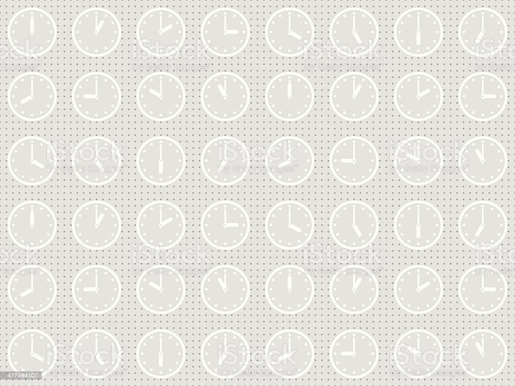 Seamless pattern with clock royalty-free stock vector art