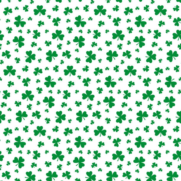 Seamless pattern with clover leaf. Saint Patrick's Day concept. Seamless pattern with clover leaf. Saint Patrick's Day concept. Vector illustration. shamrock stock illustrations