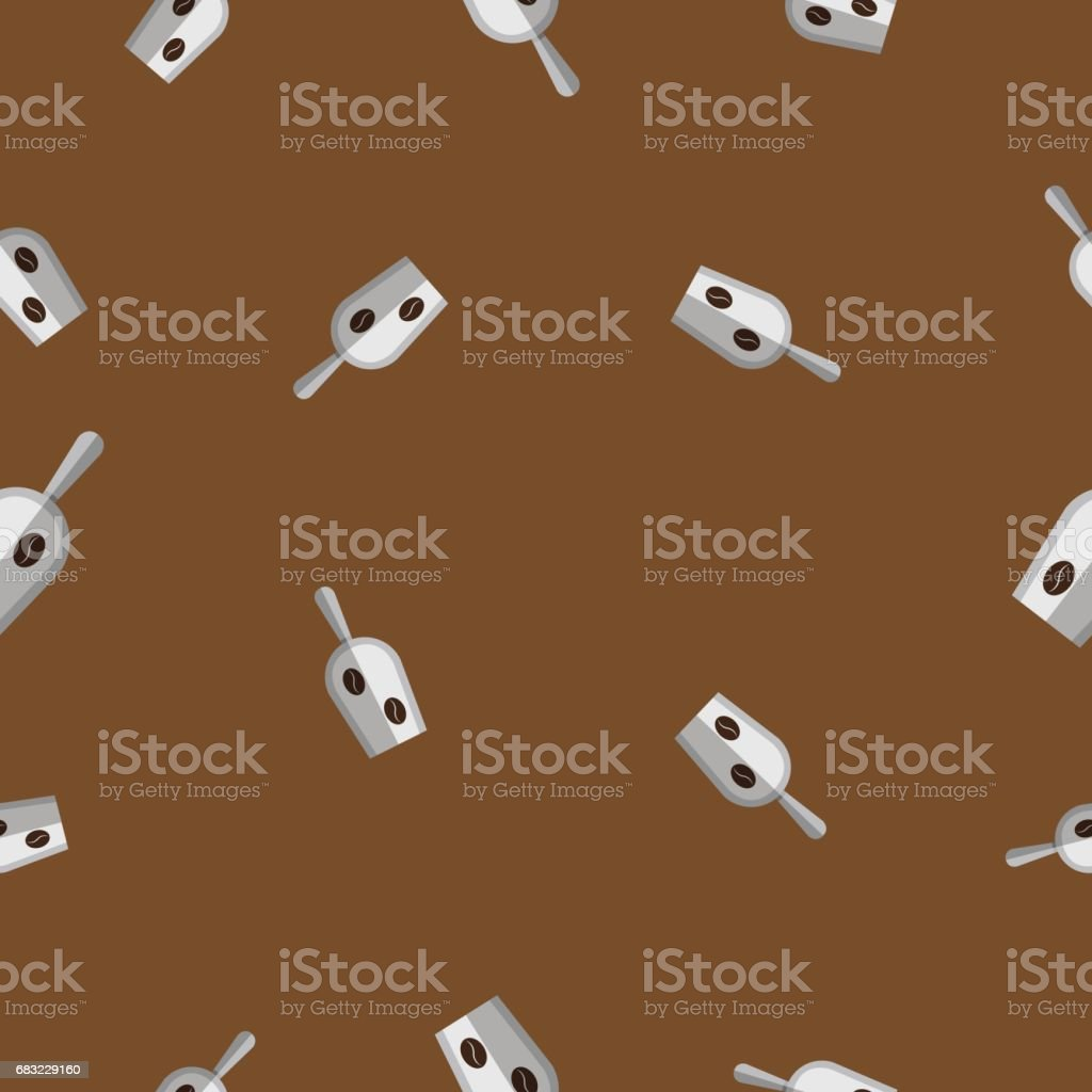 Seamless pattern with coffee bean on stainless steel scoop vector illustration royalty-free seamless pattern with coffee bean on stainless steel scoop vector illustration 0명에 대한 스톡 벡터 아트 및 기타 이미지