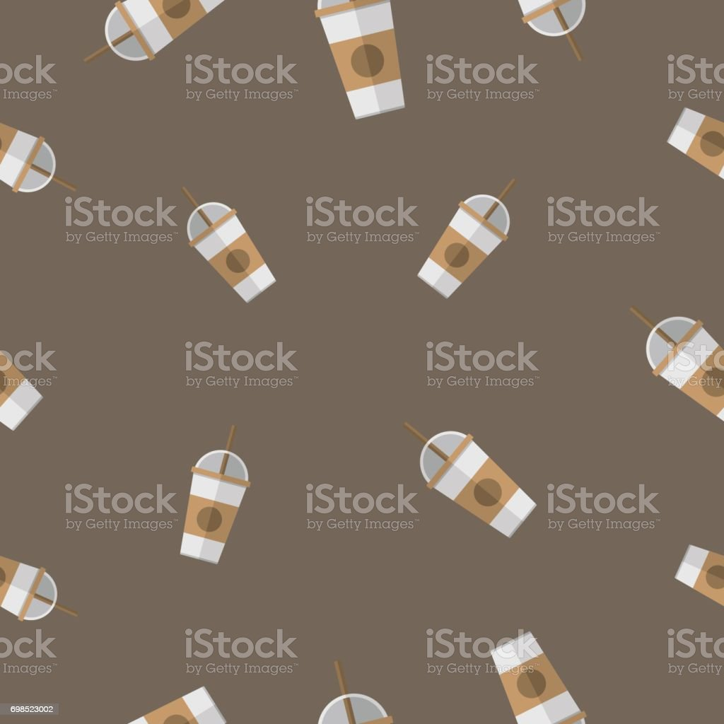 Seamless Pattern With Coffee Paper Cup Vector Illustration Royalty Free