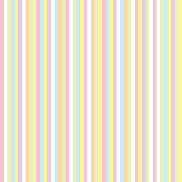 seamless pattern with color stripes - pastel colored stock illustrations, clip art, cartoons, & icons