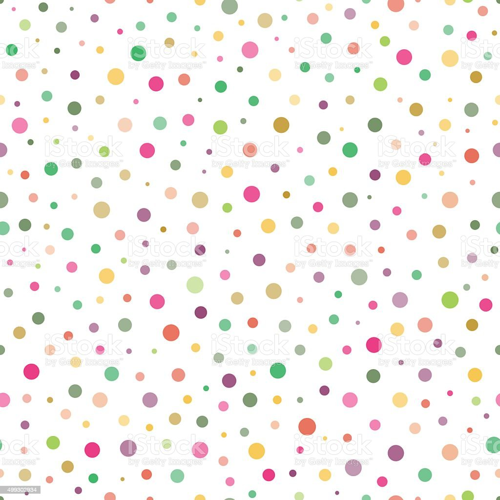 Seamless pattern with colorful circles vector art illustration