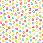 Seamless pattern with colorful Easter eggs. Perfect for wallpaper, gift paper, holiday greetings