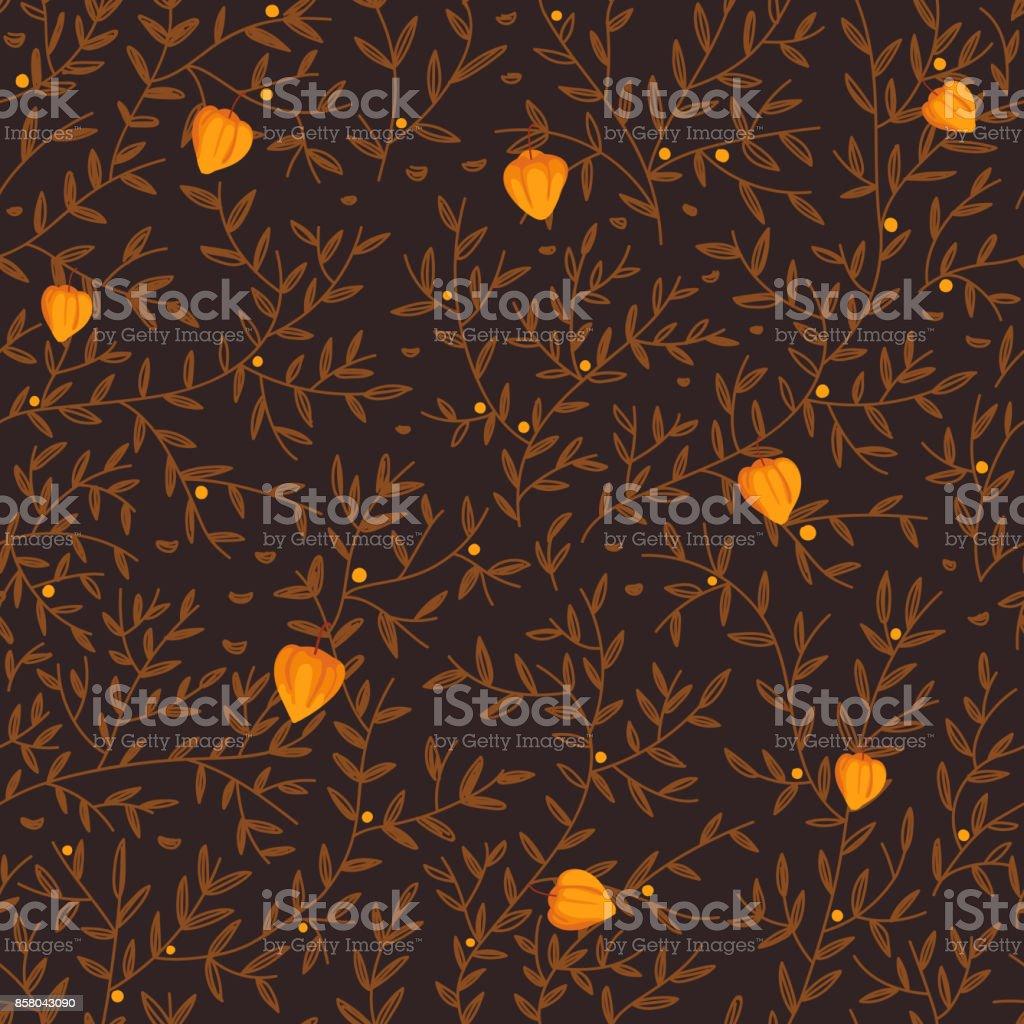 Patrón sin fisuras con follaje colorido - ilustración de arte vectorial