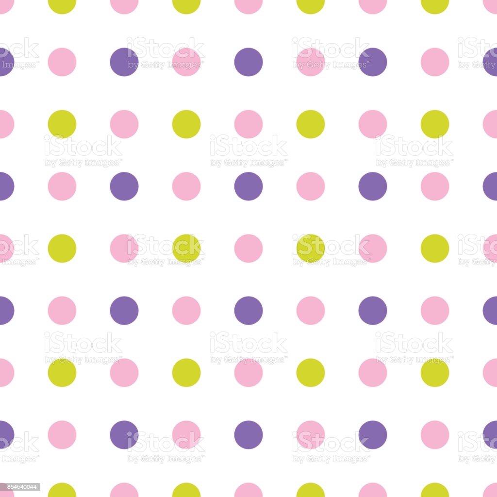 Modèle Sans Couture Avec Le Tissu Coloré À Pois Papier Peint Vector  Vecteurs libres de droits et plus d\'images vectorielles de Abstrait