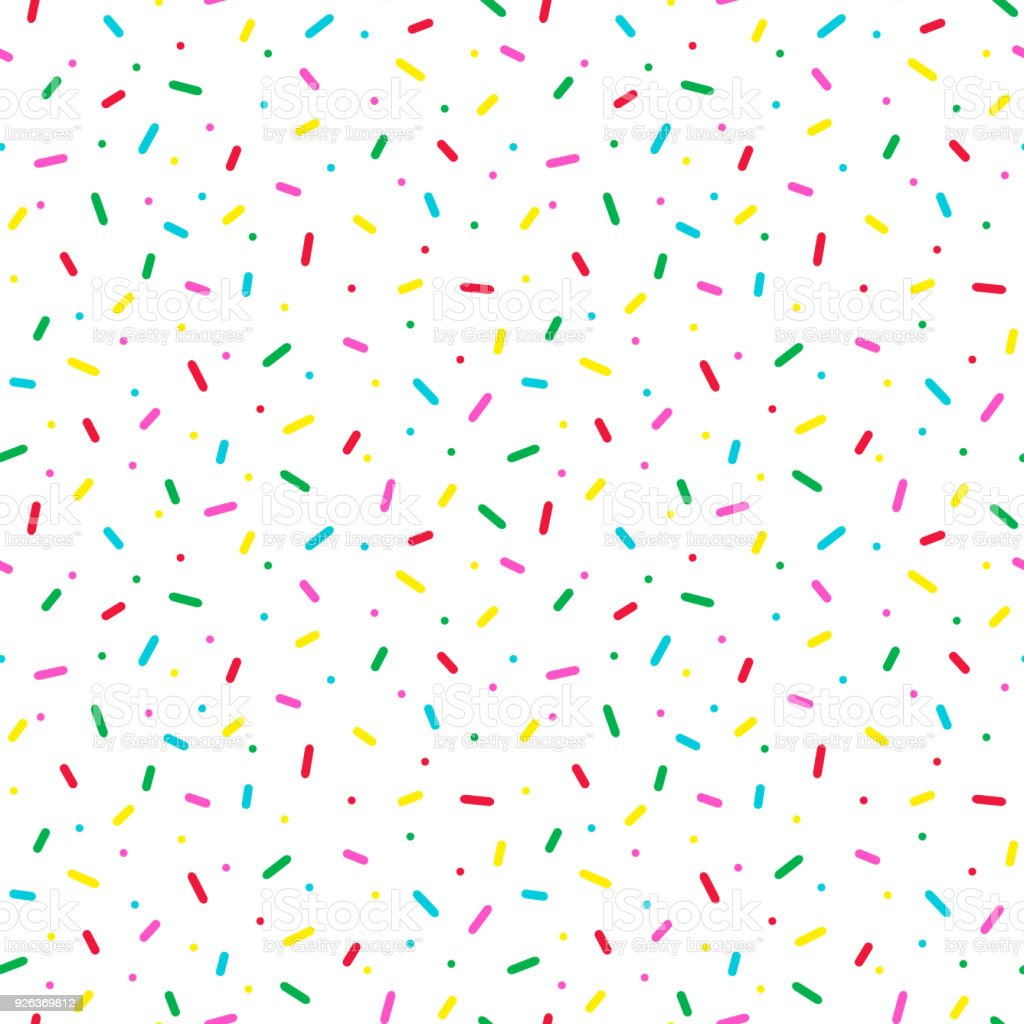 Seamless pattern with colorful sprinkles. Donut glaze background. vector art illustration