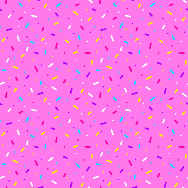 Seamless pattern with colorful sprinkles. Donut glaze background. Seamless pattern with colorful sprinkles. Donut glaze background. candy patterns stock illustrations