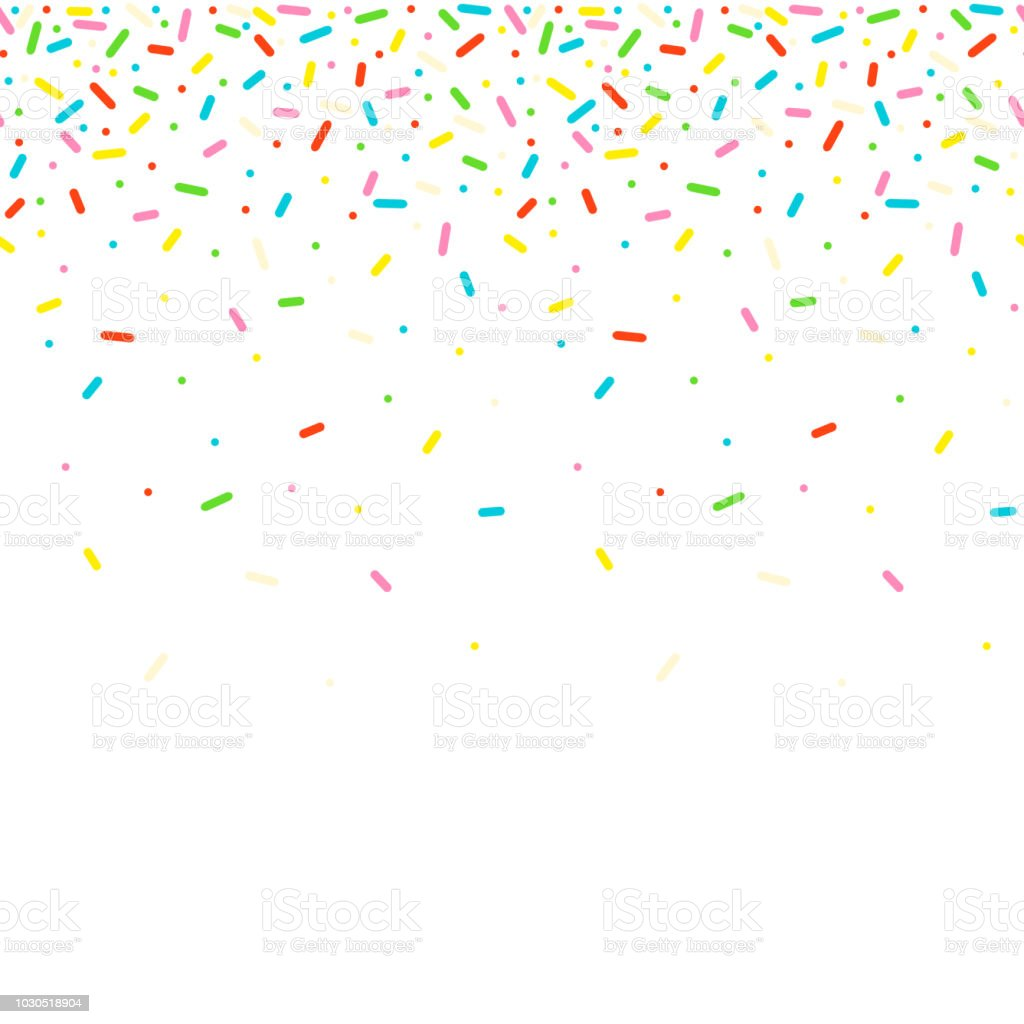 Seamless pattern with colorful sprinkles. royalty-free seamless pattern with colorful sprinkles stock illustration - download image now