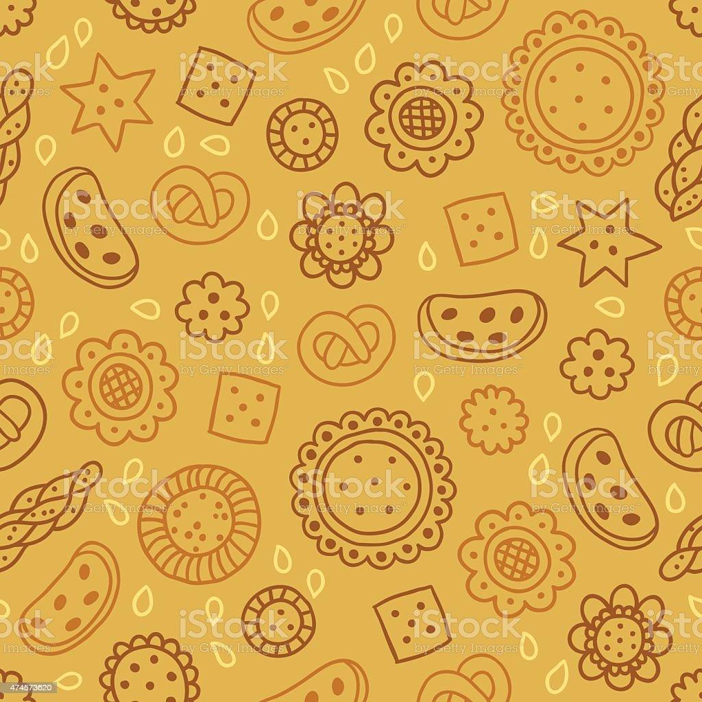 シームレスパターンクッキーをどうぞ最適な壁紙布ラッピングペーパーズ