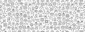 istock Seamless Pattern with Core Values Icons 1224257197
