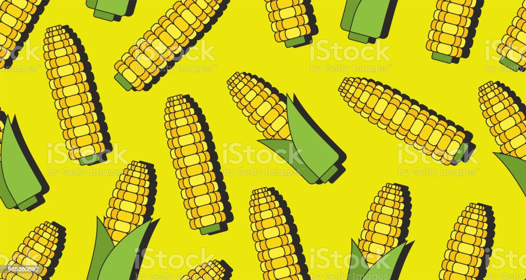 Seamless pattern with corn royalty-free seamless pattern with corn stock illustration - download image now