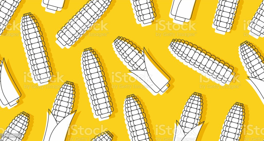 Seamless pattern with corn royalty-free seamless pattern with corn stock vector art & more images of agriculture