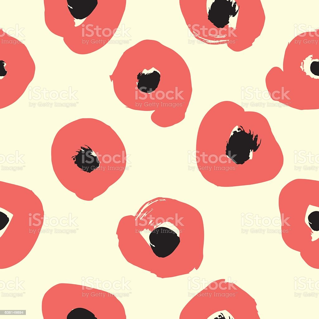 Seamless pattern with creative texture. Vector illustration of smudges on vector art illustration