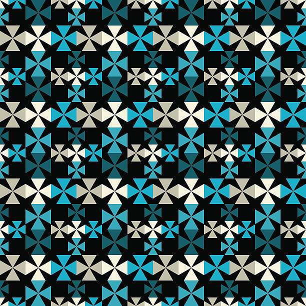 Seamless pattern with cross Gothic seamless pattern with cross. Repeating background texture - vector artwork maltese cross stock illustrations