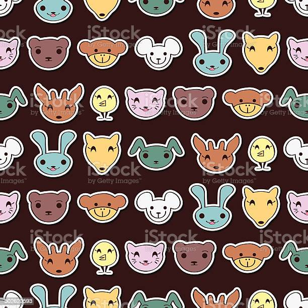 Seamless pattern with cute animal faces vector id502620593?b=1&k=6&m=502620593&s=612x612&h= nvi2ic0eogifz aavqng7yau3za3a nfjr29eu1kzg=