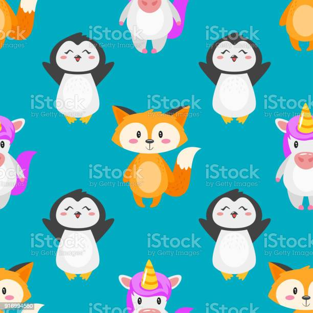 Seamless pattern with cute animals vector id916994580?b=1&k=6&m=916994580&s=612x612&h=cywsnskfxkrebtunsu1qge2ollnd4i0 9457t1i7hd0=