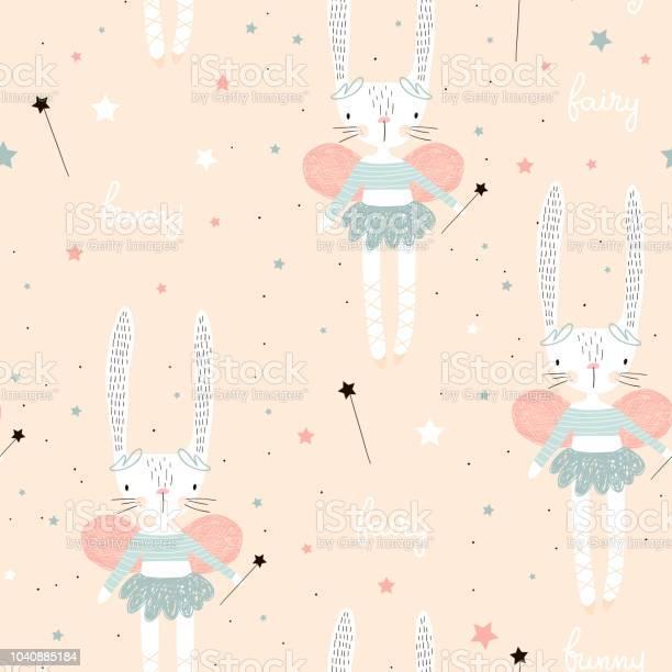 Seamless pattern with cute bunny ballerina with wings stars magic vector id1040885184?b=1&k=6&m=1040885184&s=612x612&h=s89quaaiufbdhdta35liogvzheyqhbo6psh4xwkwdag=