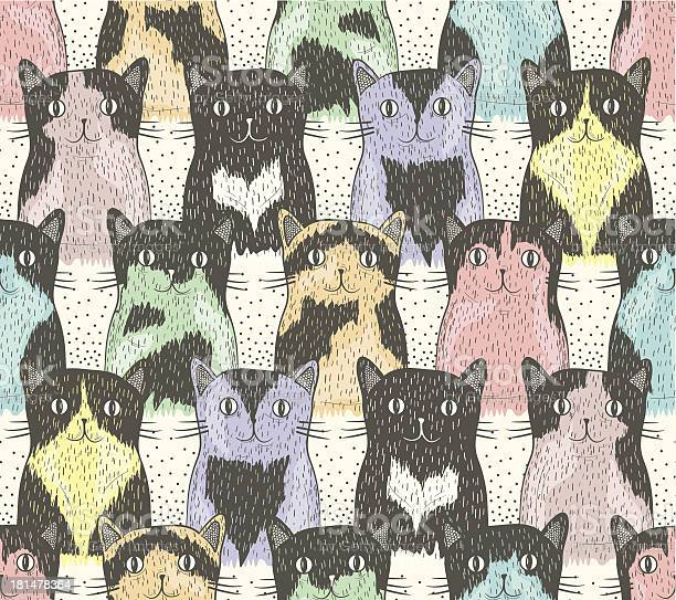 Seamless pattern with cute cats for children vector id181478364?b=1&k=6&m=181478364&s=612x612&h=fds no nbvbxtfffagllfirdqeospcrvx0vtz0dbd1c=