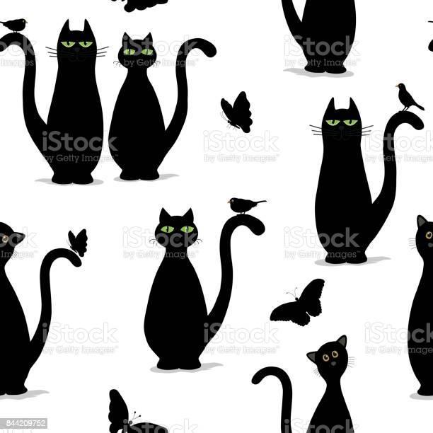 Seamless pattern with cute cats vector id844209752?b=1&k=6&m=844209752&s=612x612&h=vj 9kj5fqjniveamuckpyvgzhhwhavcykmnv7f1w4v0=
