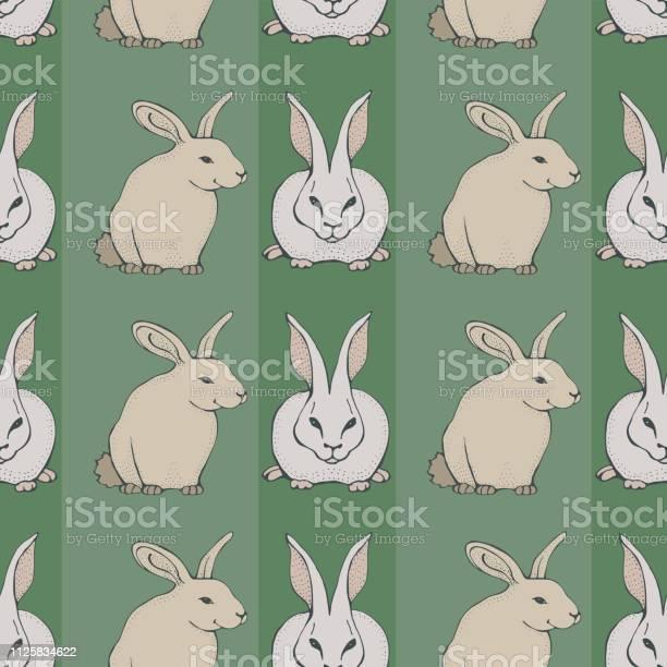 Seamless pattern with cute hand drawn rabbits vector template for vector id1125834622?b=1&k=6&m=1125834622&s=612x612&h=egllbw9tajj2hvr0o2ea bzqxhvehqhm1tp 3d4homm=