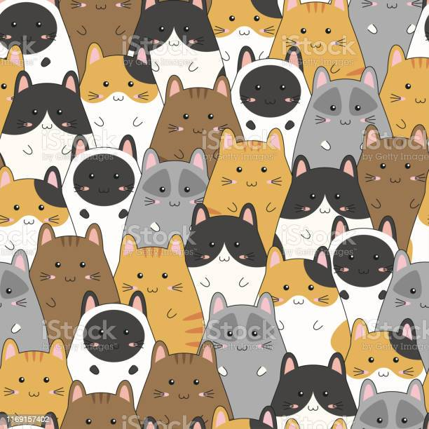Seamless pattern with cute kitten family cartoon vector illustration vector id1169157402?b=1&k=6&m=1169157402&s=612x612&h=nvm2qnzuorkcqrxl4hb9jpe8bafaep ym8dm81qozmm=