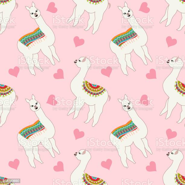 Seamless pattern with cute llama and heart vector abstract background vector id918343692?b=1&k=6&m=918343692&s=612x612&h= jxlxvqwazqmszaxnpj 751stnmi vjloycnxkxz774=