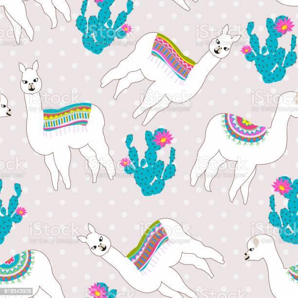 Seamless pattern with cute llama castus and flower vector abstract vector id918343926?b=1&k=6&m=918343926&s=612x612&h=9joqangqy5pcl9mqbl4hjyh2kdoh2aci6yidb5z3coe=