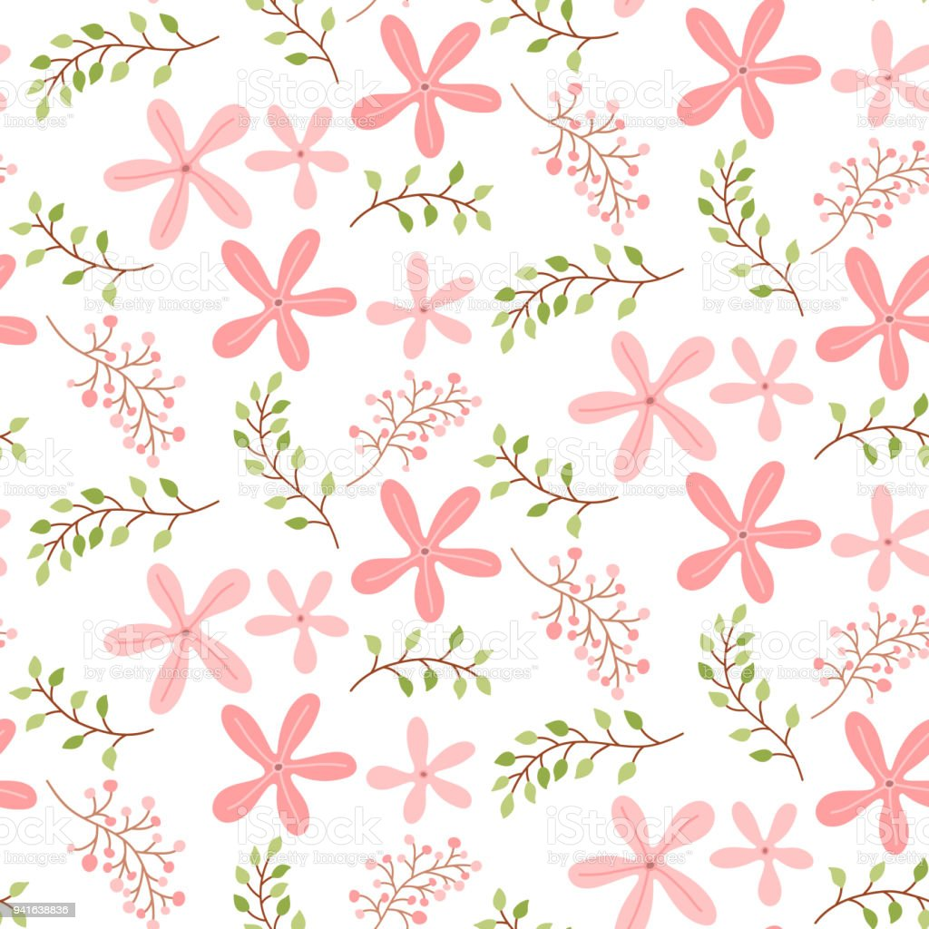Seamless pattern with cute pink flowers stock vector art more seamless pattern with cute pink flowers royalty free seamless pattern with cute pink flowers mightylinksfo