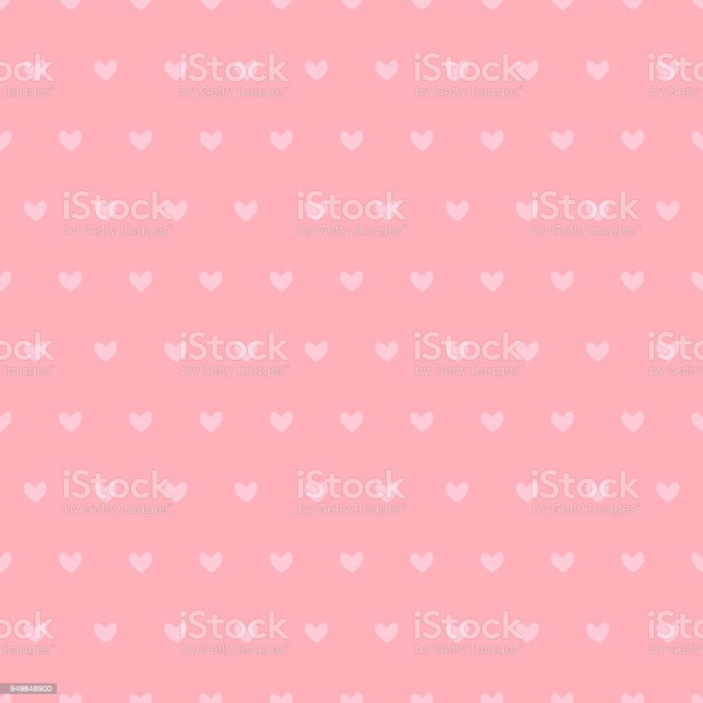 Seamless Pattern with Cute Small Pink Hearts. векторная иллюстрация