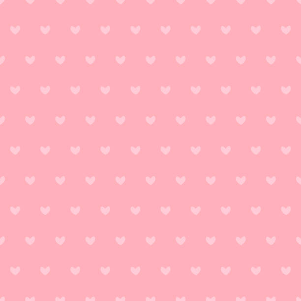 seamless pattern with cute small pink hearts. - heart stock illustrations, clip art, cartoons, & icons